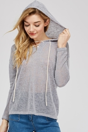 Jolie Loose Knit Hoodie - Front cropped
