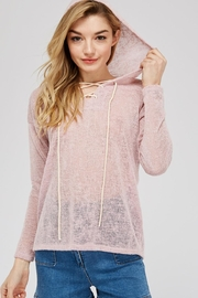 Jolie Loose Knit Hoodie - Front full body