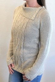 Keren Hart Loose-Knit Oatmeal Sweater - Product Mini Image