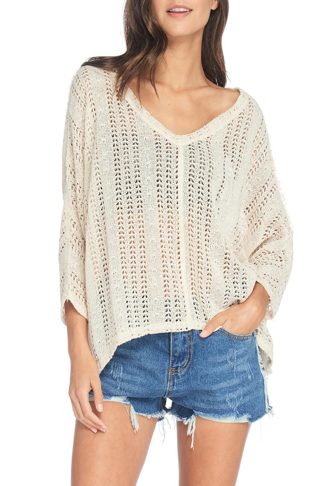 Anama Loose Knit Sweater - Front Full Image