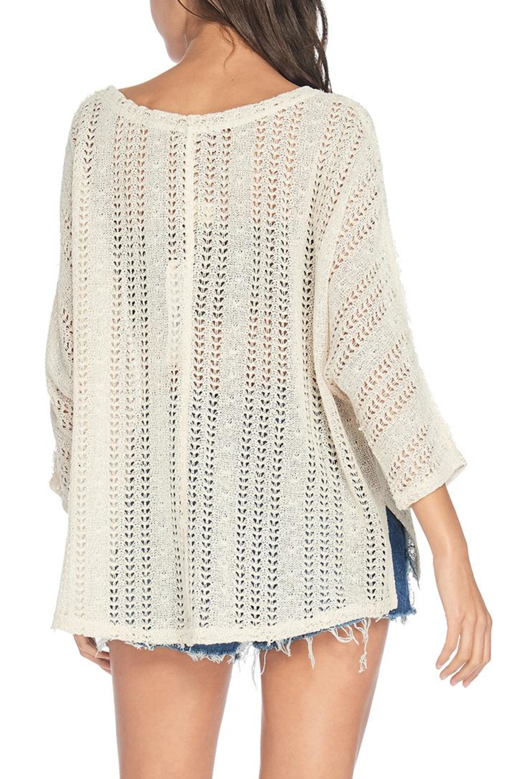 Anama Loose Knit Sweater - Side Cropped Image