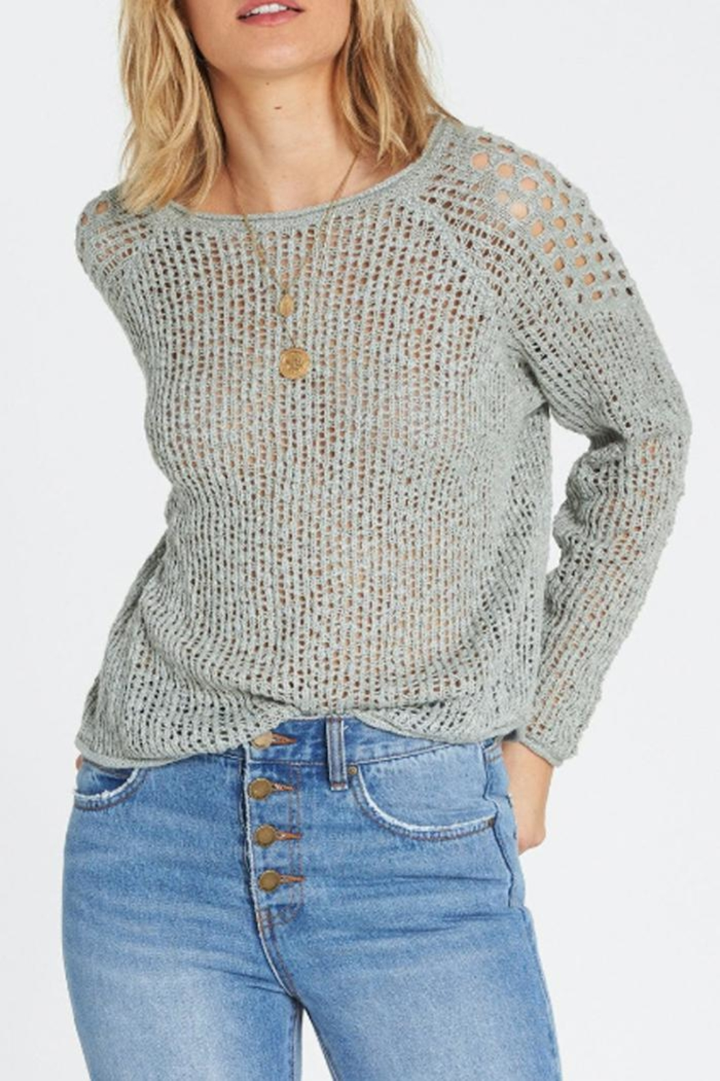 Billabong Loose Knit Sweater - Front Cropped Image