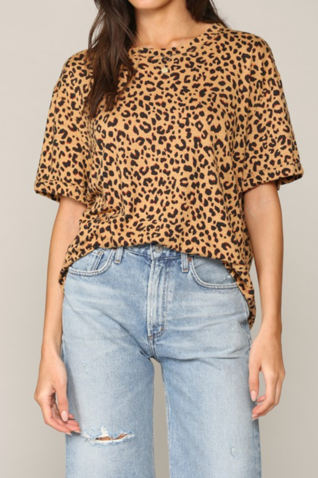 By Together  Loose Leopard Tee - Main Image
