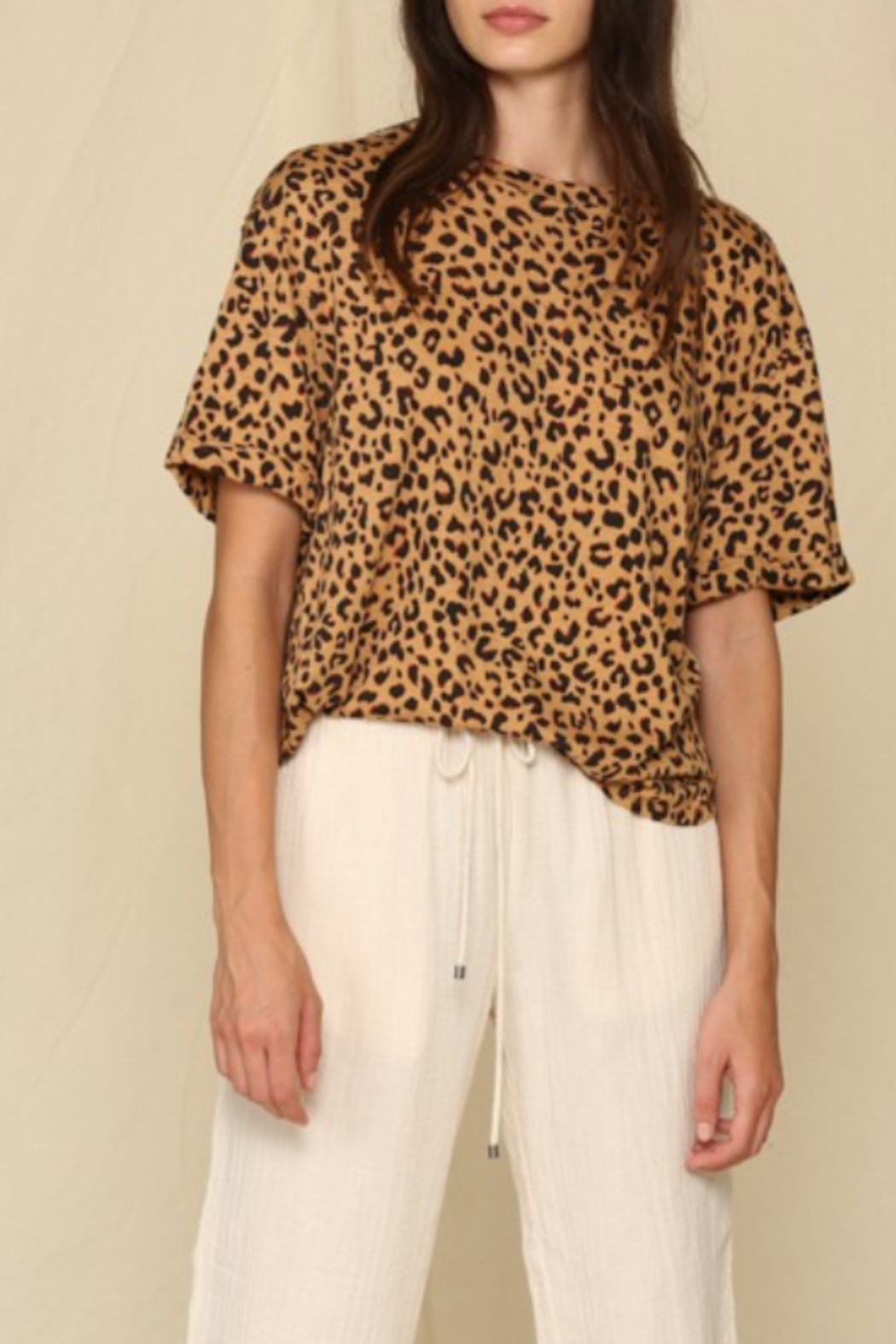 By Together  Loose Leopard Tee - Front Full Image
