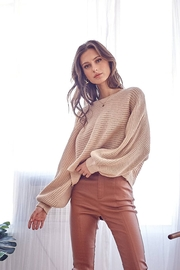 Idem Ditto  Loose Natural Fit Sweater - Natural - Front cropped