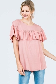 Olivia Pratt Loose Ruffle Top - Product Mini Image