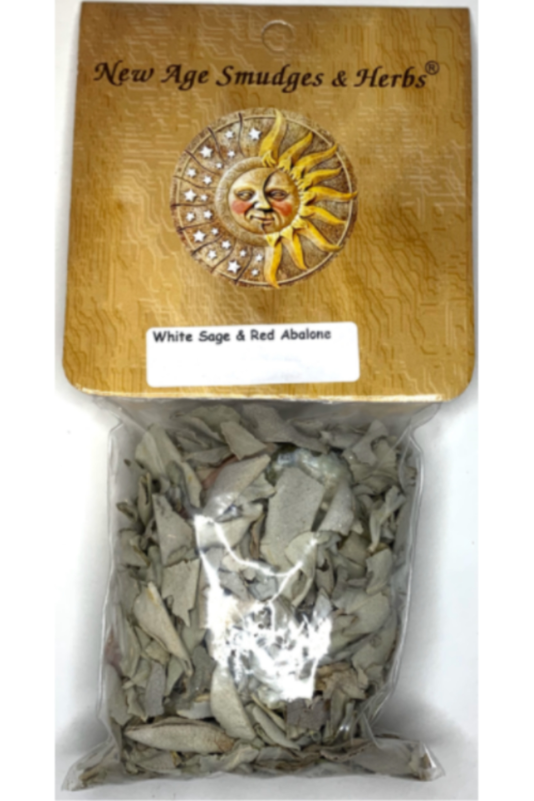New Age Imports Loose sage and Red Abolone shell - Main Image