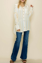 Glam Loose Striped Tunic - Front cropped