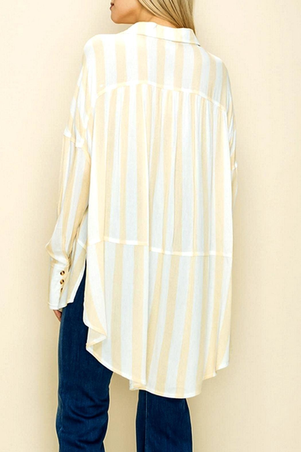 Glam Loose Striped Tunic - Front Full Image