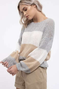 blu pepper  Colorblock Pullover Sweater - Product List Image