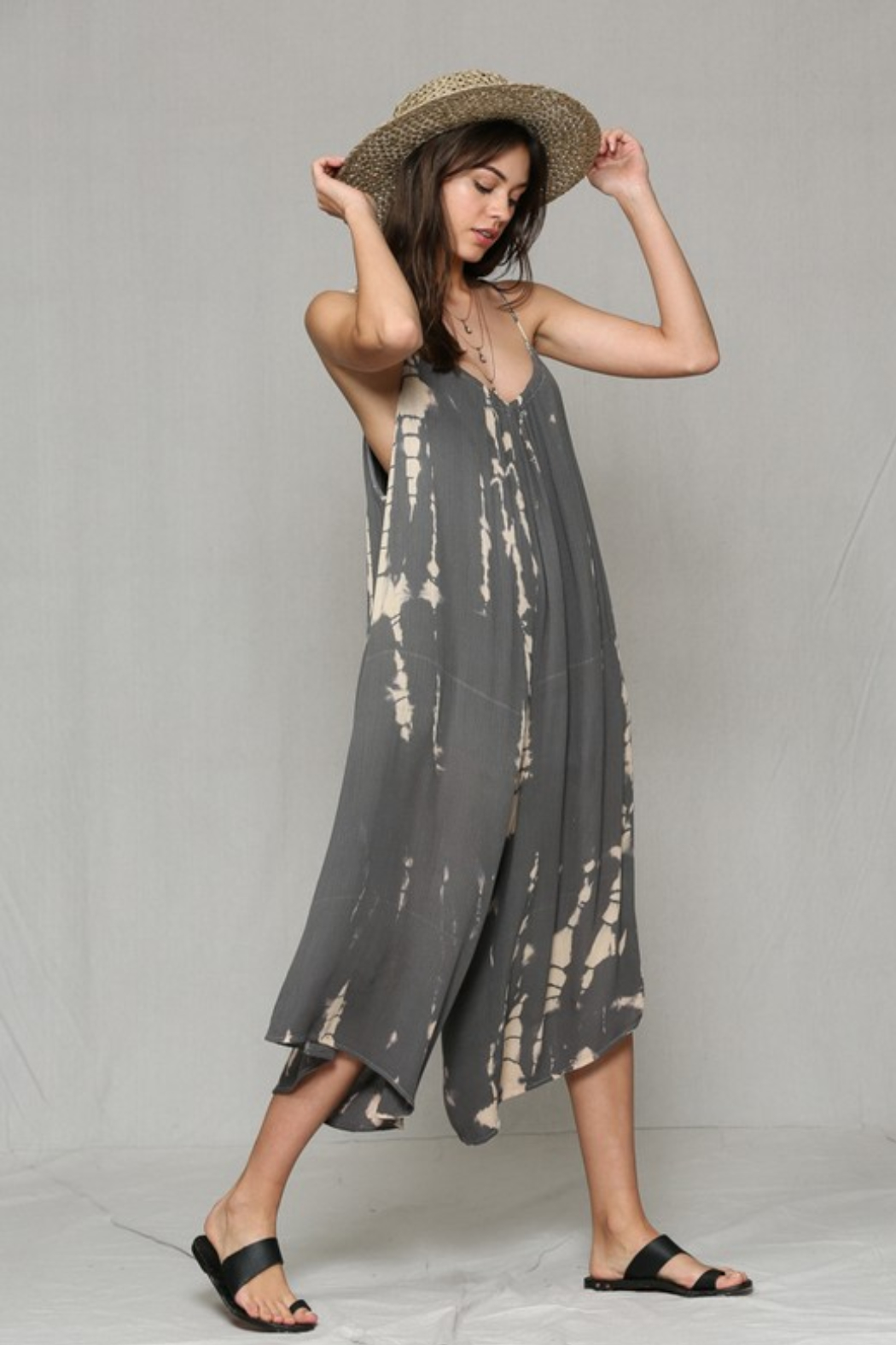By Together Loose Tie Dye Jumpsuit - Front Full Image