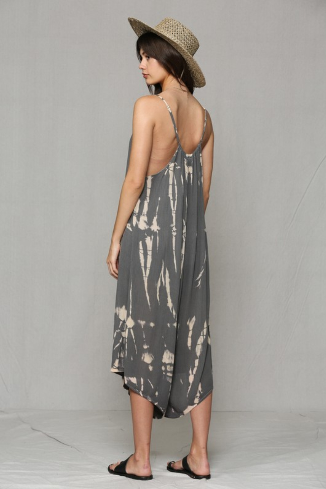 By Together Loose Tie Dye Jumpsuit - Back Cropped Image