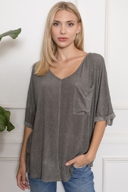 Porch Loose V Neck Top - Product Mini Image