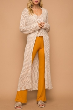 Shoptiques Product: Loose Weave Long Cardigan