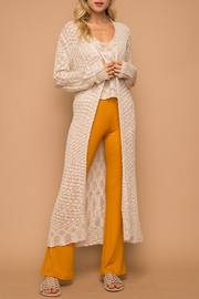 Hem and Thread Loose Weave Long Cardigan - Product Mini Image