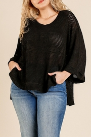 Umgee  Loose Weave Pullover - Product Mini Image