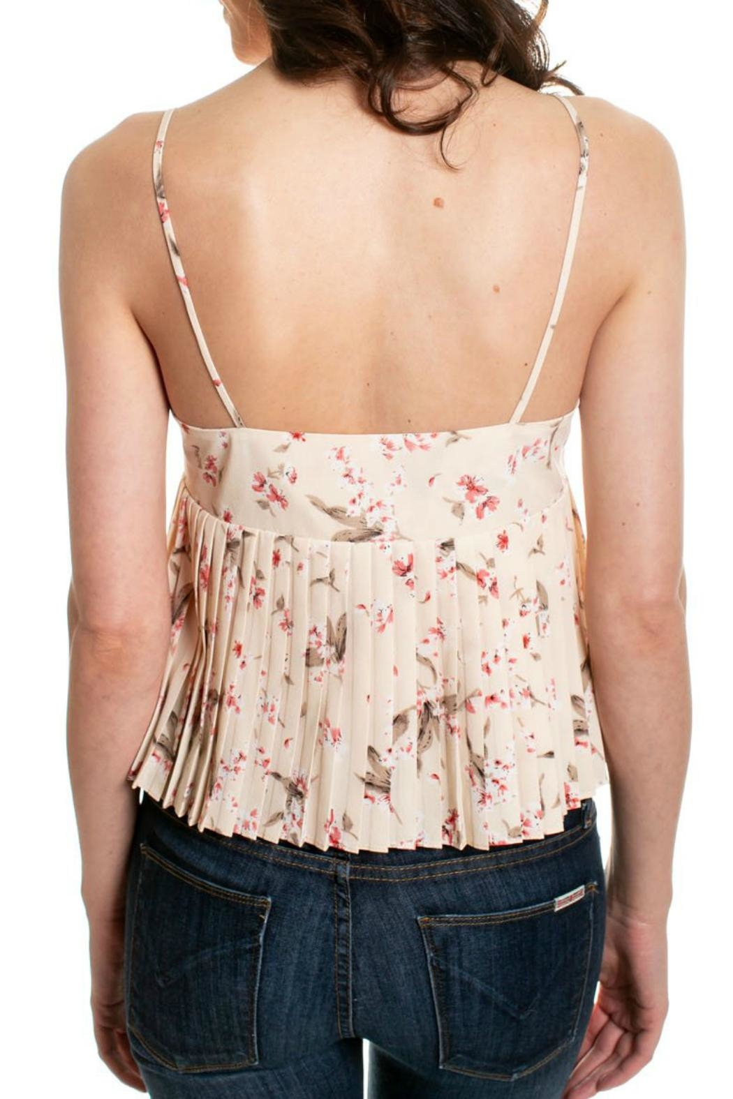 Orb Lorelle Pleated Cami - Side Cropped Image