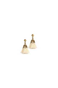 Shoptiques Product: Ivory Tassel Earrings