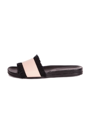 LORENA PAGGI Flat Leather Sandals - Front full body