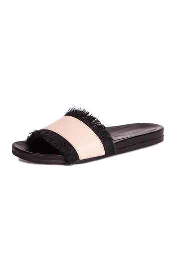 LORENA PAGGI Flat Leather Sandals - Main Image