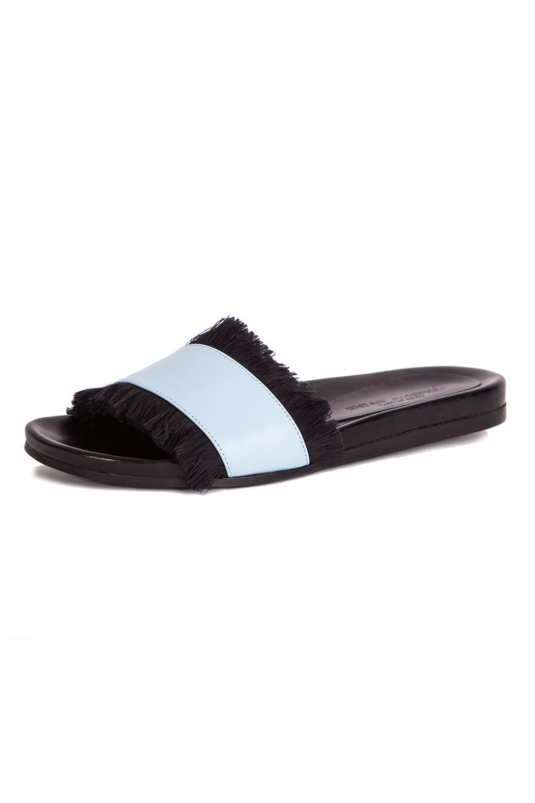 LORENA PAGGI Flat Leather Sandals - Front Cropped Image