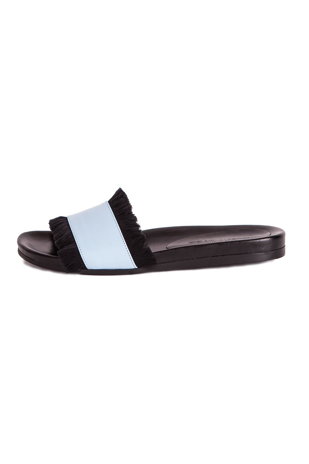 LORENA PAGGI Flat Leather Sandals - Front Full Image
