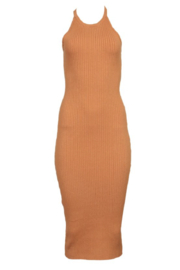 Line & Dot LORI ASYMMETRICAL RIBBED MIDI DRESS - Product Mini Image
