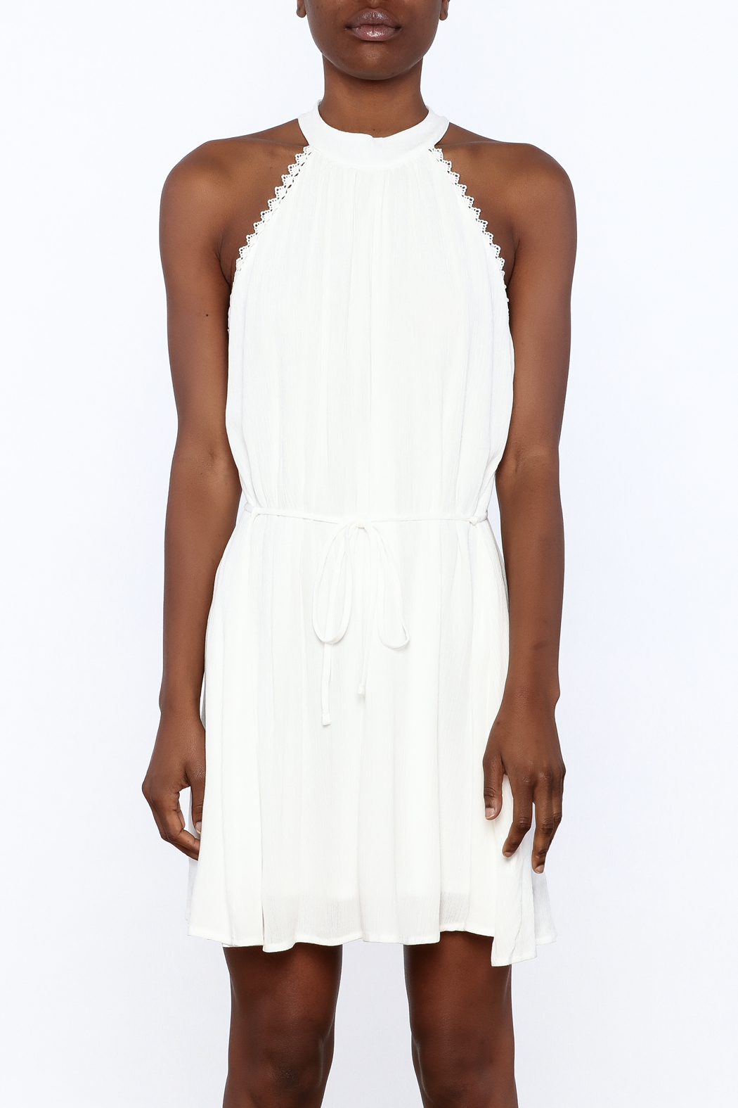 Lost + Wander White Lily Sleeveless Dress - Side Cropped Image