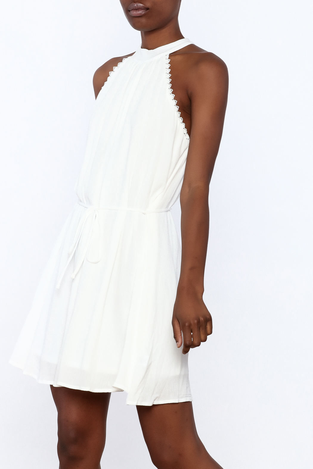 Lost + Wander White Lily Sleeveless Dress - Front Cropped Image