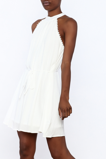 Lost + Wander White Lily Sleeveless Dress - Main Image
