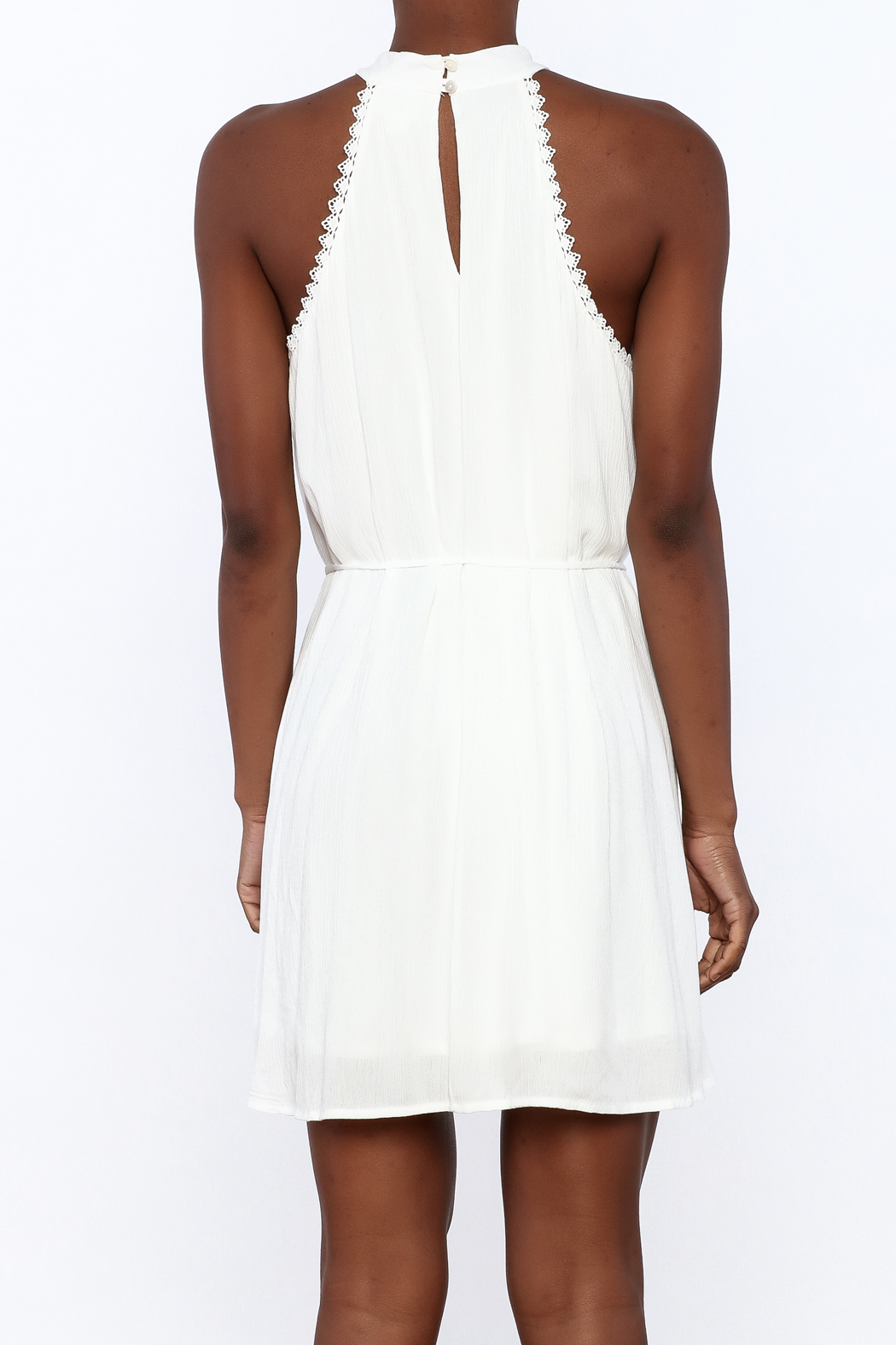Lost + Wander White Lily Sleeveless Dress - Back Cropped Image