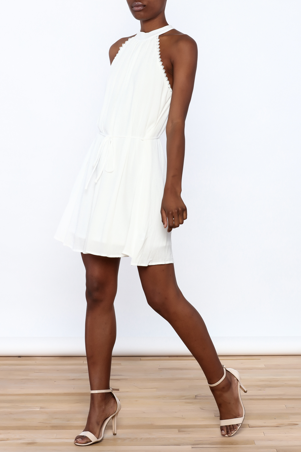 Lost + Wander White Lily Sleeveless Dress - Front Full Image