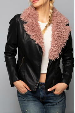 Coalition Lost Faux Words Jacket - Product List Image
