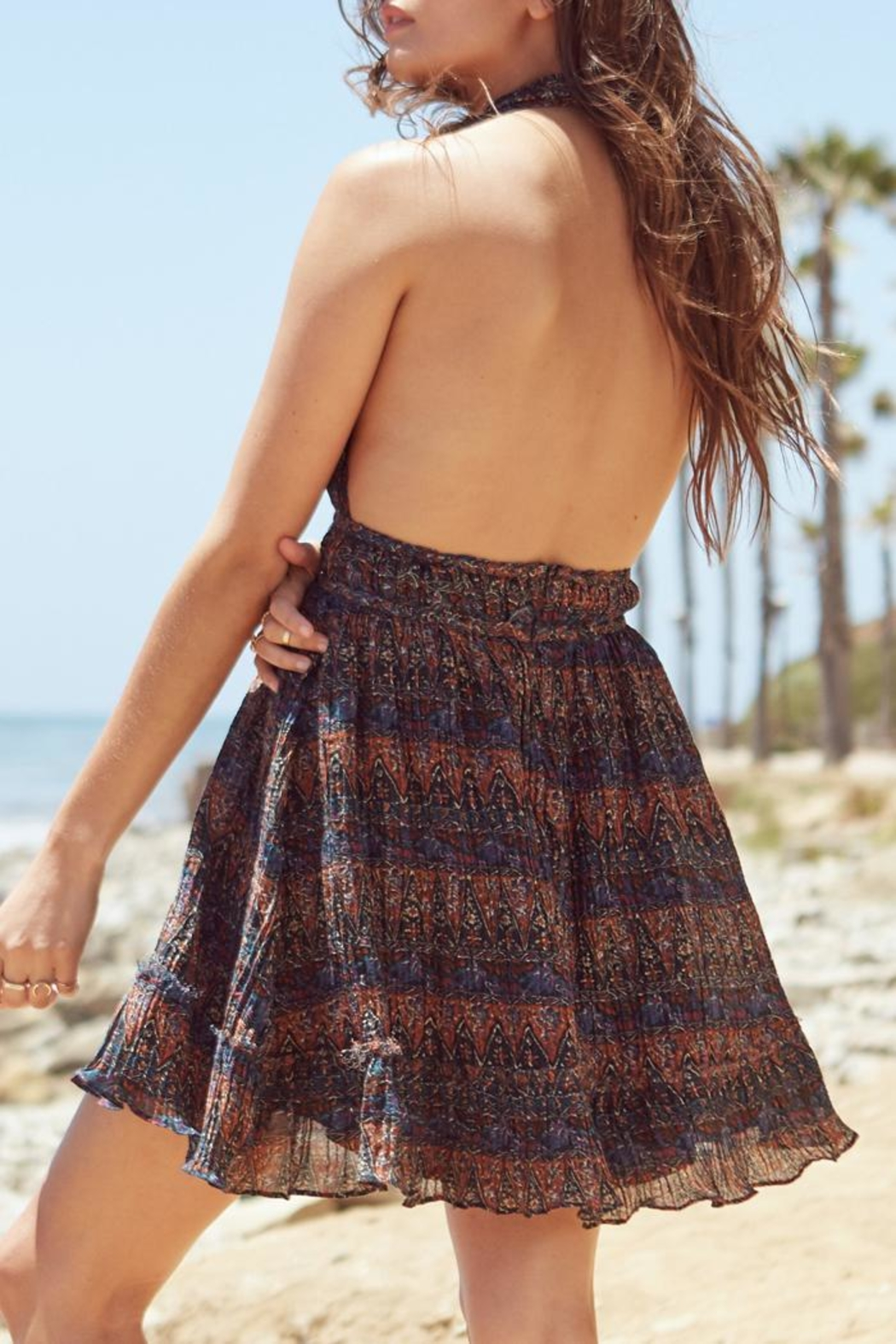 Lost + Wander Bali Halter Dress - Side Cropped Image