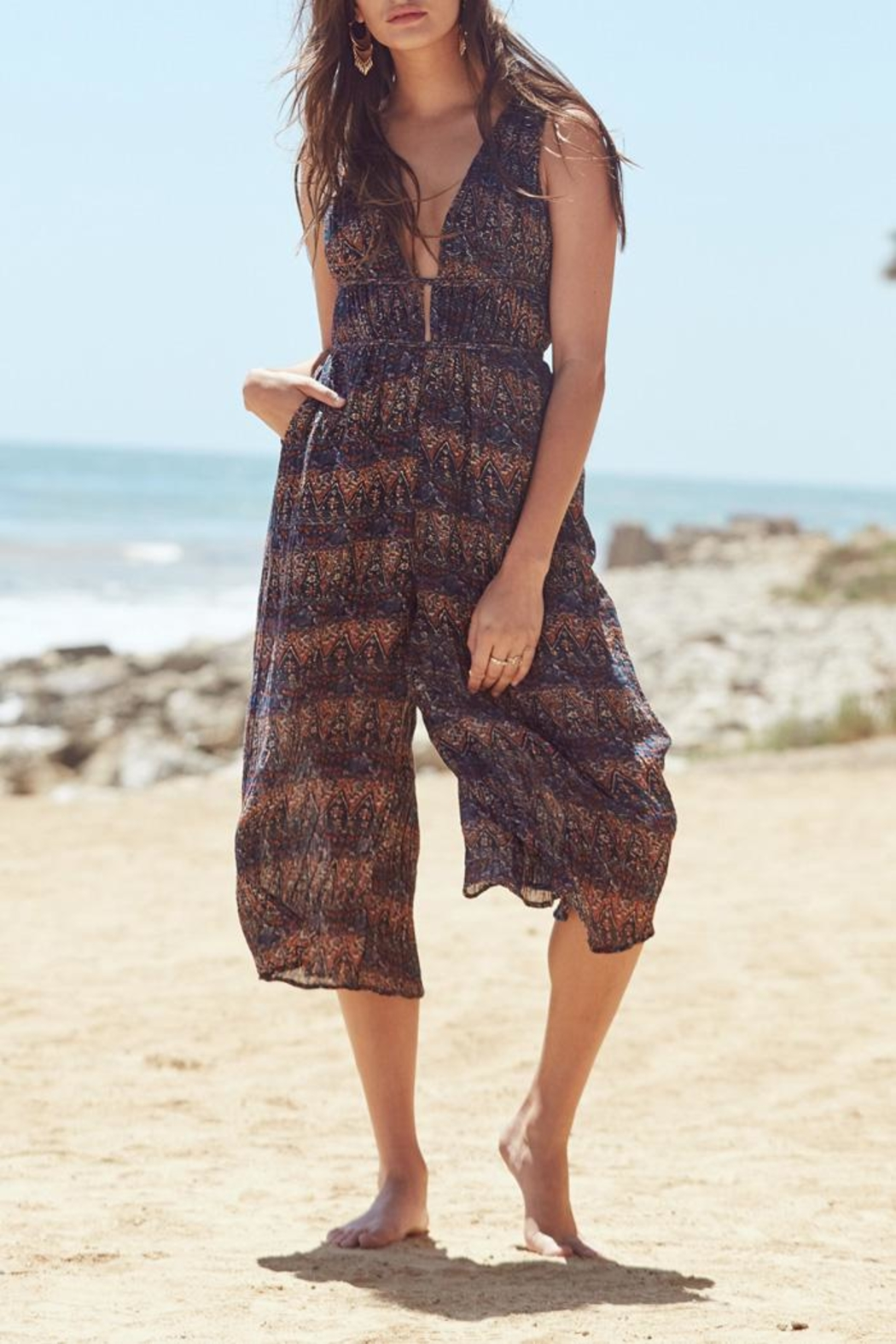 Lost + Wander Bali Jumpsuit - Front Cropped Image