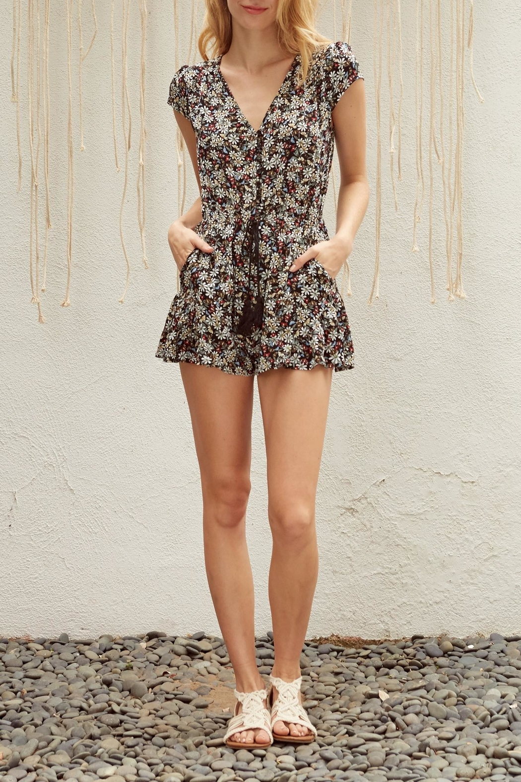 Lost + Wander Flora Romper - Front Cropped Image