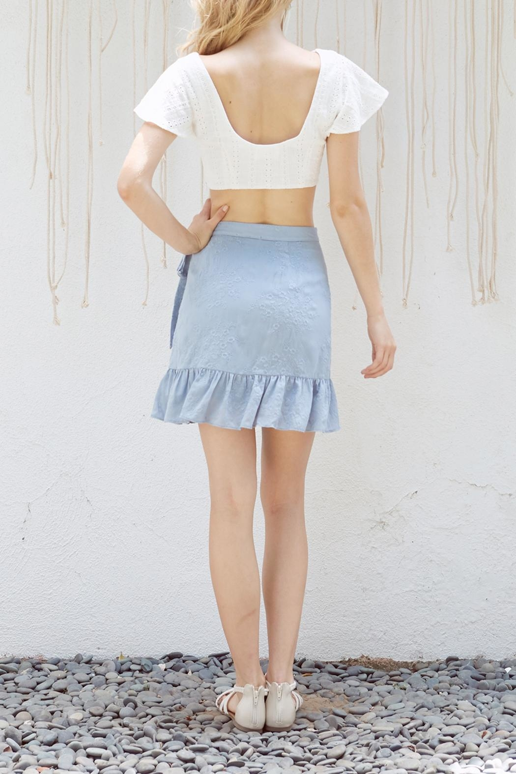 Lost + Wander Mare Ruffled Skirt - Side Cropped Image