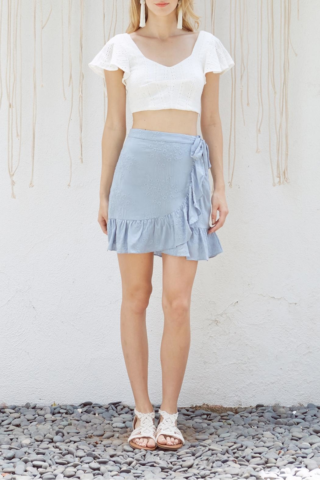 Lost + Wander Mare Ruffled Skirt - Front Cropped Image