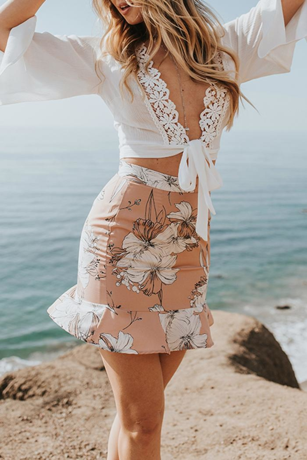 Lost + Wander Paradise Crop Top - Front Full Image