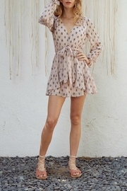 Lost + Wander Printed Blush Dress - Front cropped