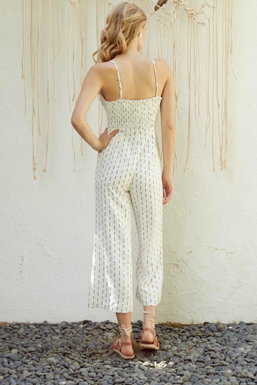 Lost + Wander Cropped Print Jumpsuit - Side Cropped Image