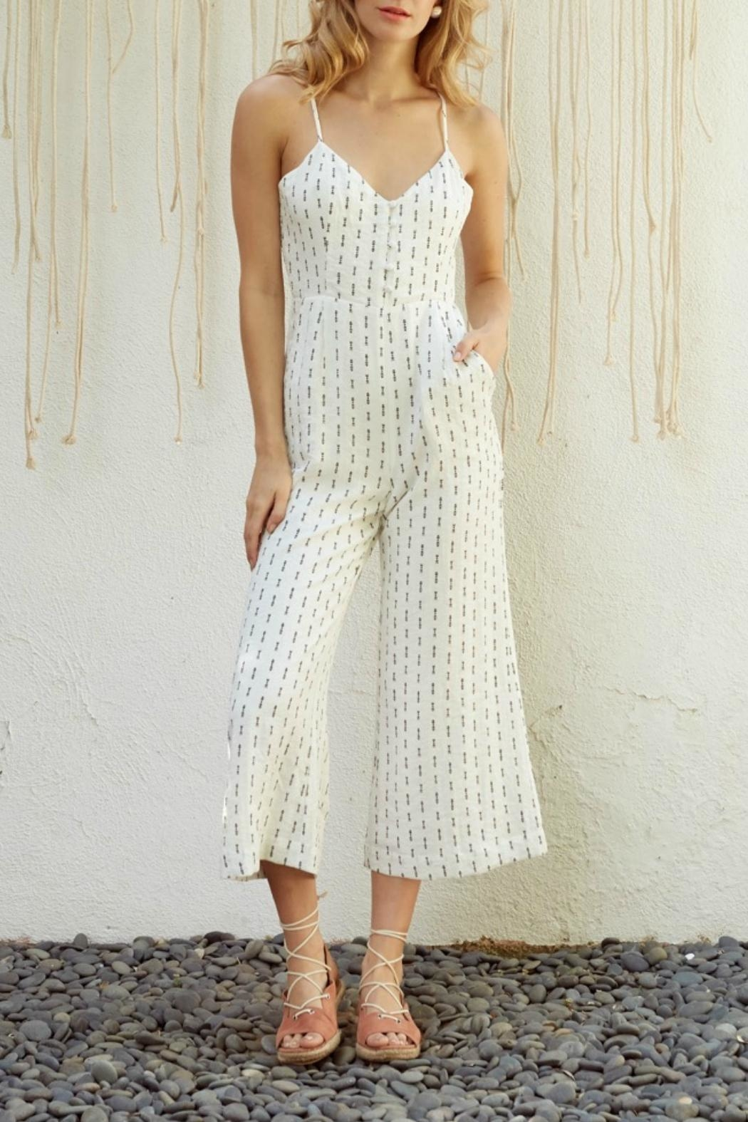 Lost + Wander Cropped Print Jumpsuit - Main Image