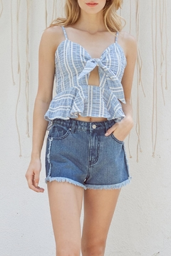 Lost + Wander Waves Ruffle Top - Product List Image
