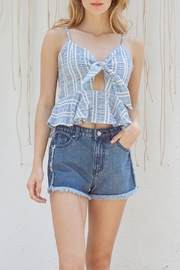 Lost + Wander Waves Ruffle Top - Product Mini Image