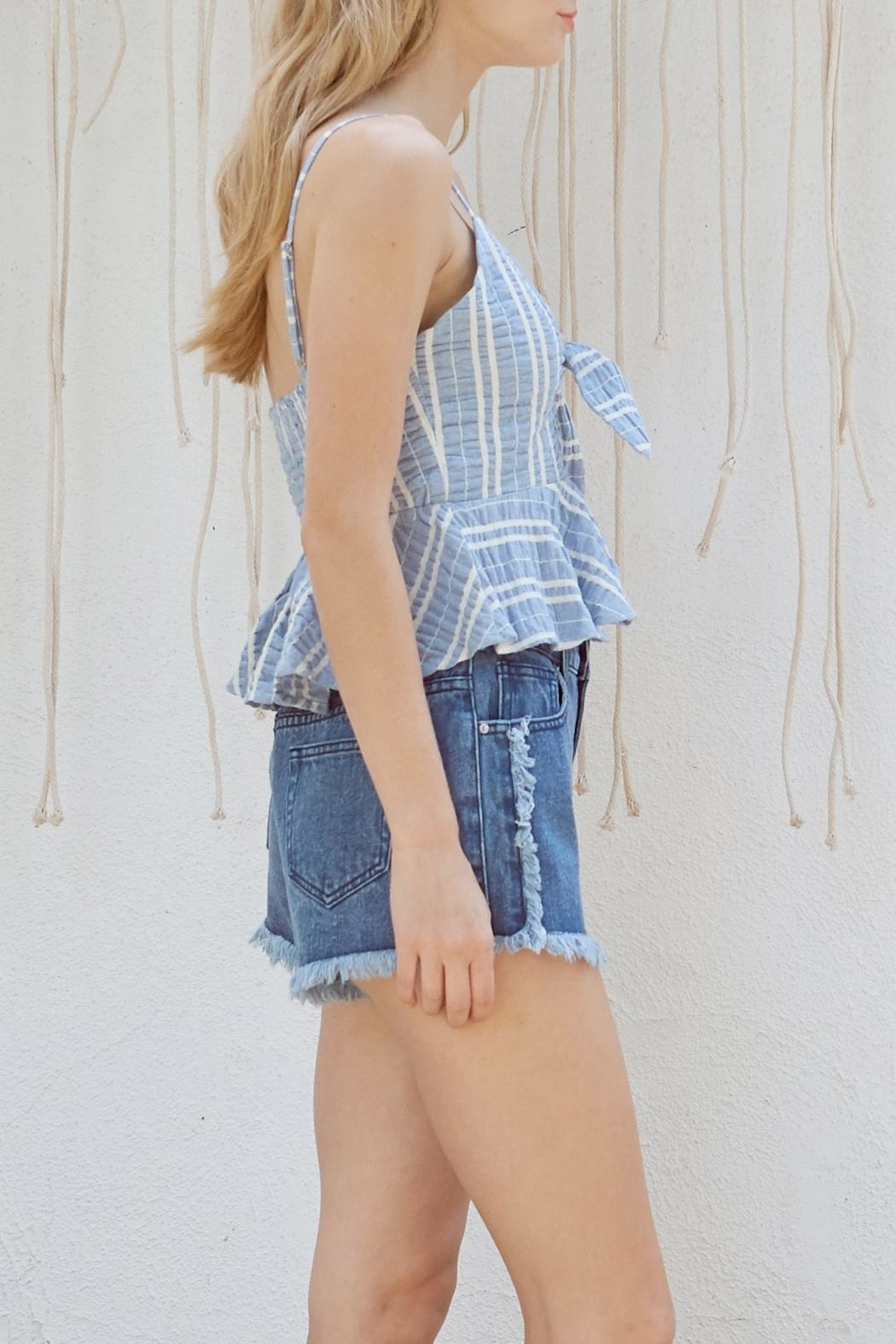 Lost + Wander Waves Ruffle Top - Front Full Image