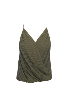 Lost April Dion Pleated Tank - Product List Image