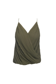 Lost April Dion Pleated Tank - Front cropped