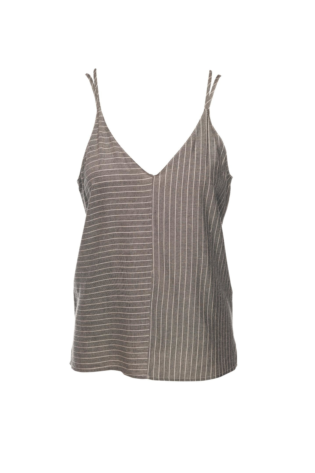 Lost April Fiona Stripe Cami - Front Cropped Image