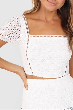 Lost in Lunar Cindy Eyelet Crop - Product List Image