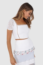 Lost in Lunar Cindy Eyelet Crop - Front full body